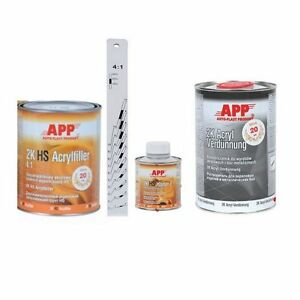 Kit Appret garnissant APP 2K gris durcisseur diluant règle graduée (AP10) - France - État : Neuf: Objet neuf et intact, n'ayant jamais servi, non ouvert, vendu dans son emballage d'origine (lorsqu'il y en a un). L'emballage doit tre le mme que celui de l'objet vendu en magasin, sauf si l'objet a été emballé par le fabricant d - France