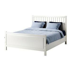 White IKEA Hemnes queen bed frame SOLD PENDING PICKUP Ashgrove Brisbane North West Preview