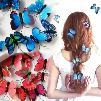 5Pcs Butterfly Flower Hair Claw Clamp Hair Clips Wedding Party Bridal Hair -