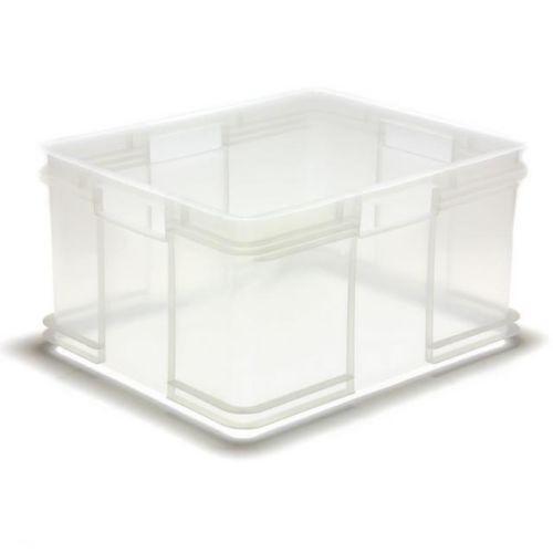 kiste transparent m bel wohnen ebay. Black Bedroom Furniture Sets. Home Design Ideas