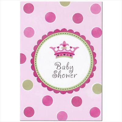 NEW LITTLE PRINCESS INVITATIONS (8) ~ Baby Shower Party Supplies Stationery Card (New Little Princess Baby Shower)