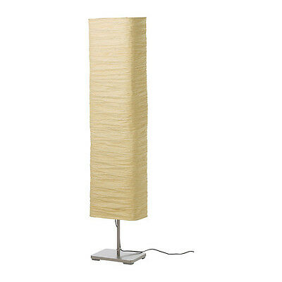 Ikea floor lamp shade 1 new ikea magnarp floor lamp warm light rice paper shade glow mozeypictures Image collections