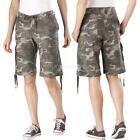 Womens Camo Cargo Shorts