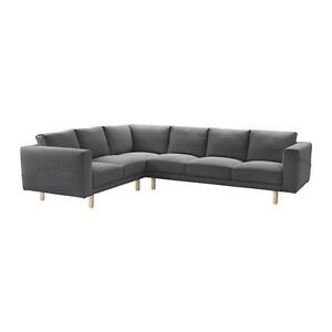 L-Shaped Sectional IKEA Couch (NORSBORG) - Grey