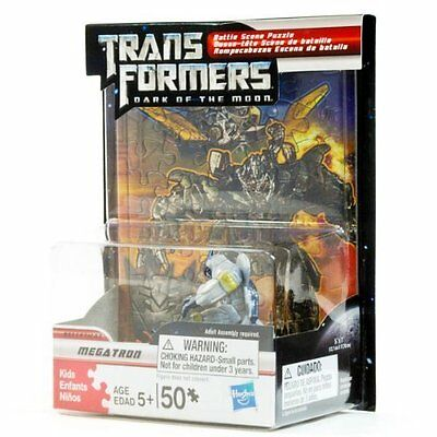 Transformers Dark of the Moon Battle Scene Puzzle with Autobot Megatron Figure](Transformers Scene)