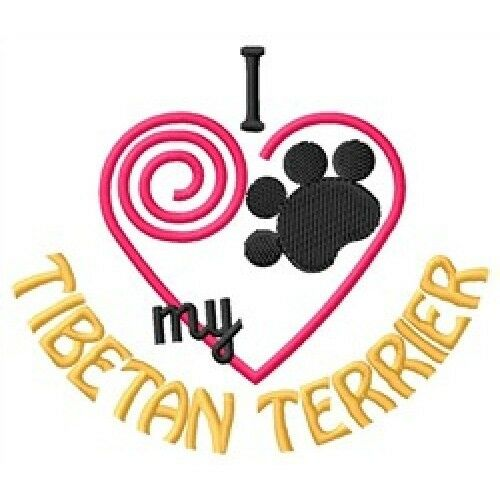 "I ""Heart"" My Tibetan Terrier Zippered Tote 1347-2"