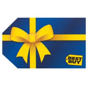 Carte Cadeau Bestbuy de 710$
