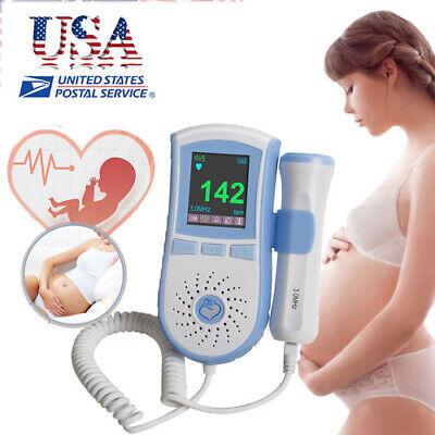 Fetal Doppler Heart Rate Detector Pregnant Pocket Doppler Baby Heartbeat Monitor