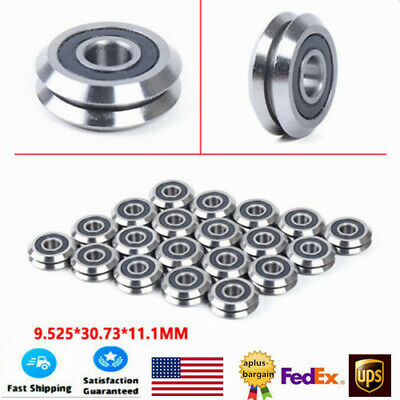 20x V-groove Sealed Ball Bearing Stainless Steel Bearing Balls Durable Usa