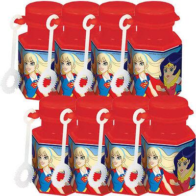 DC SUPER HERO GIRLS MINI BUBBLES (8) ~ Birthday Party Supplies Favors Toys - Superhero Bubbles