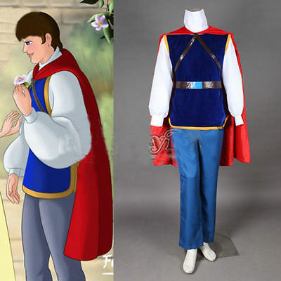 Disney Snow white and the Seven Dwarfs Prince Charming Dress Cosplay Costume - Snow White And Prince Charming Costumes