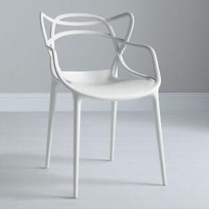 2 X kartell Philippe Starck Masters Chair, White