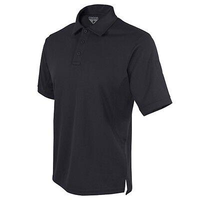 e995185e6 Condor 101060 Tactical Short Sleeve Polyester Performance Polo Shirt -  Black XL
