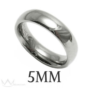 Beautiful Stainless Steel Comfort Fit Wedding Band Ring Sizes 5-15 All Widths