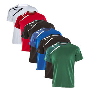 New-Puma-Spirit-Mens-Tee-Training-Football-T-shirts-Team-2013-14-Range-6-colour