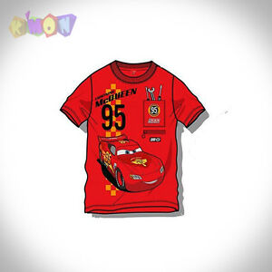 6251-Camiseta-CARS-Manga-corta-Color-rojo