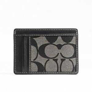 Coach card case ebay coach slim card case reheart Image collections