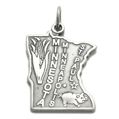 - 925 Sterling Silver Minnesota State Charm