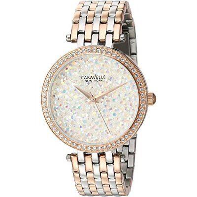 Caravelle New York Women's 45L166 Swarovski Crystal Two Tone Watch