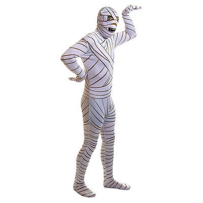 2nd SKIN MUMMY FULL-BODY STRETCH JUMPSUIT ADULT HALLOWEEN COSTUME SIZE X-LARGE