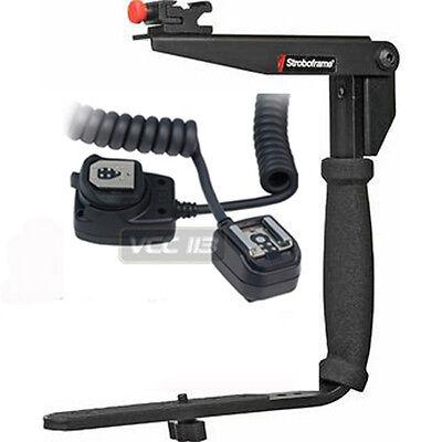 Stroboframe Flash Bracket+Canon SLR Off Camera Cord NEW