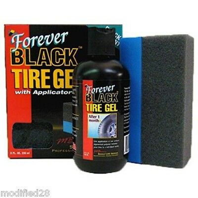 FOREVER BLACK Tire Gel Dye Dressing w/ Foam Applicator
