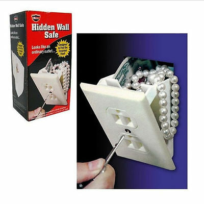 Security Wall Safe - Hidden Wall Safe Security Electrical Outlet Keys Vault Secret Hide Valuables NEW