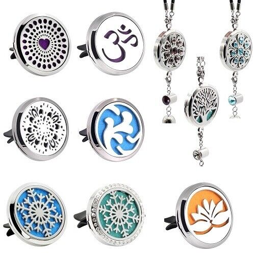 38MM Car Aromatherapy Essential Oil Diffuser Locket Stainles