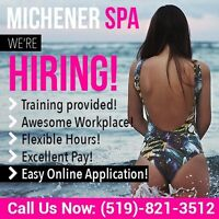 HIRING: Receptionists and Massage Attendants
