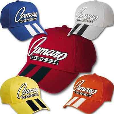 (Chevy Camaro LS1 SS Rally Racing Stripes Race Car Baseball Cap SBC Bow Tie Hat)
