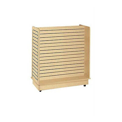 Slatwall Gondola Unit In Maple 24 X 48 X 48 Inches With Casters