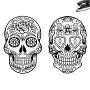 Skull Iron on Transfer