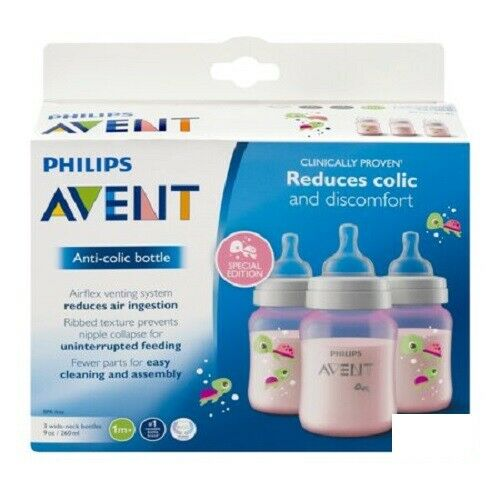 Philips Avent Anti Colic Bottle BPA Free, 3 Wide Neck Bottle