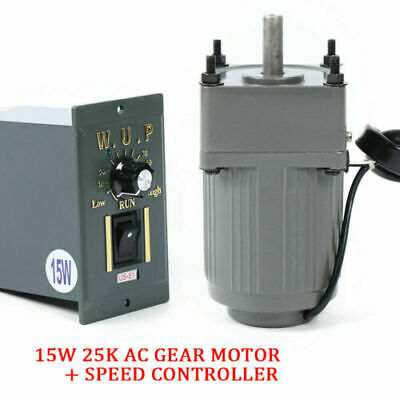 Gear Motor Ac110v 15w Electric Variable Speed Controller 110 Reduction Ratio Us