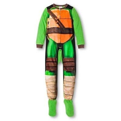 Teenage Mutant Ninja Turtles Costume Footed Sleeper Blanket Pajama Boy Size S 6