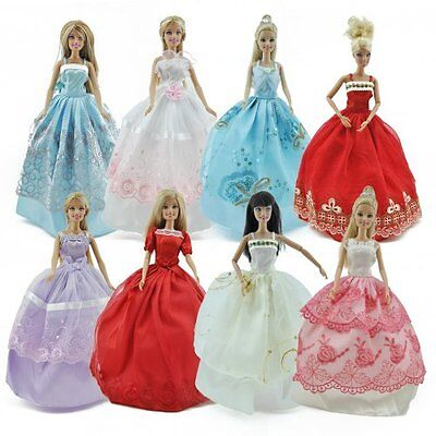 5pcs Fashion Princess Party Dresses Wedding Clothes Outfits Gown For ...