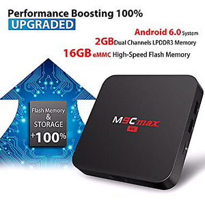 2GB M9C MAX ANDROID TV BOX  4K FULLY PROGRAMMED