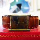 Cartier Must de Cartier Tank Gold Plated Case Wristwatches