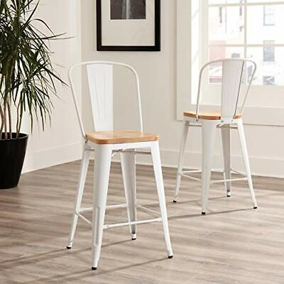 Ofm 161 Collection Industrial Modern 4 Pack 26 High Back Metal Stools With S...