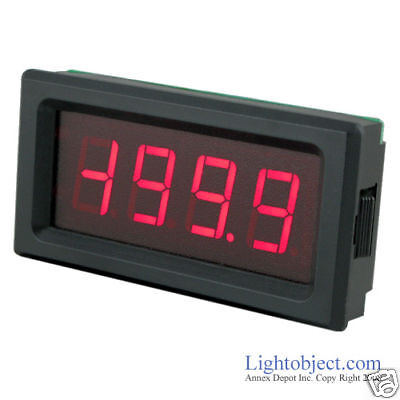Up8135 Red Led Ac 200v Digital Volt Meter Power 6-15v