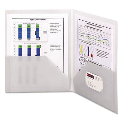 Frame View Poly Two-pocket Folder 11 X 8 12 Clearoyster 5pack