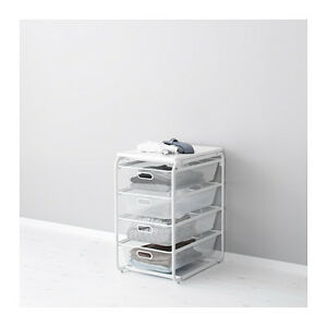 IKEA ALGOT drawer w/ 4 mesh baskets/without top shelf, white