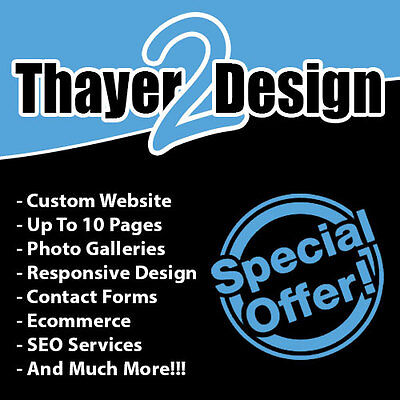 Custom Website Design - Wordpress - SEO Ready - 10 Pages - And More!