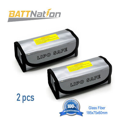 2X Lipo Battery Safe Bag Guard Fireproof Explosionproof Sack For Charge &Storage