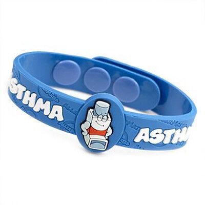 Asthma Medical Alert Bracelet for Children. Fits 4 1/2 - 6 Inch (Asthma Medical Alert Bracelet)