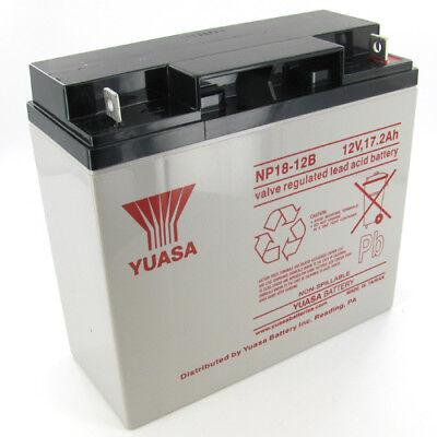 Yuasa NP18-12B 12V 17.2Ah Sealed Lead Acid Battery