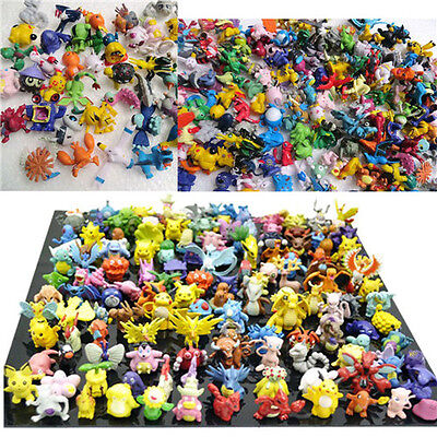 48pcs Wholesale Mixed Lots Pokemon Pikachu Monster Mini Random Pearl Figures Toy