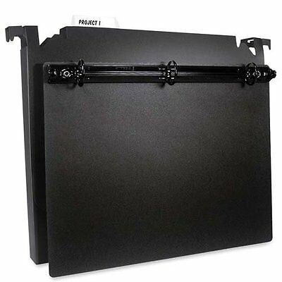 Hanging File Boxes With 3-ring Component Letter 2 Cap 1 Ring Black