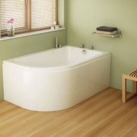 Freedom 1500mm x 950mm RightHand Corner Bath Complete inc Side Panel | RRP: £395