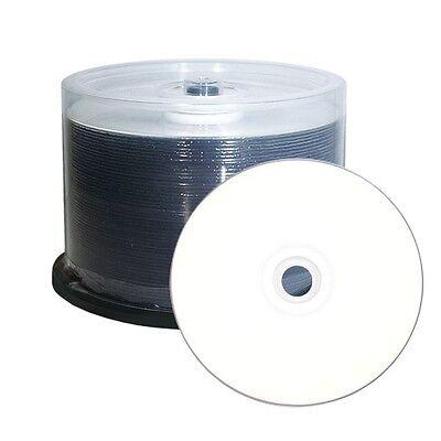 50 BluRay BD-R Up to 10X Blank Blu Ray BD-R White Inkjet Hub Printable Disc 25GB